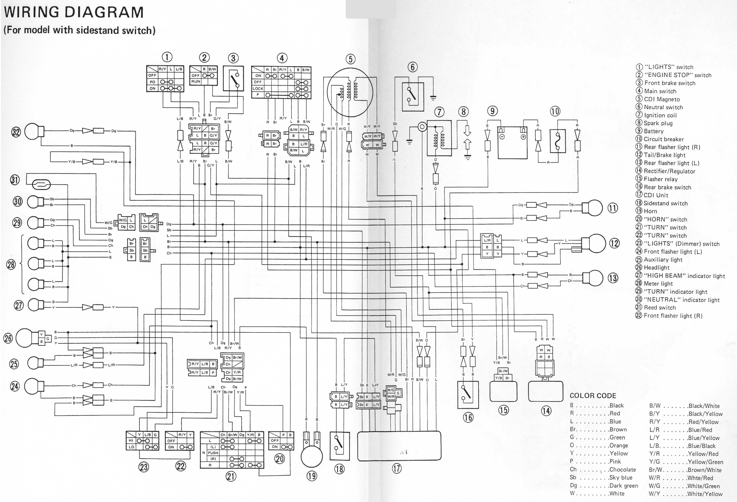 Yamaha_SRX6(4)_Wiring_Diagram Yamaha Phase Prong Rectifier Regulator Wiring Diagram on